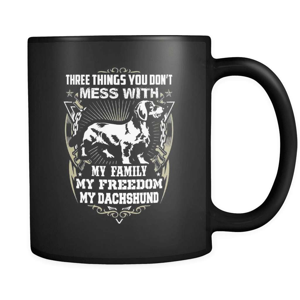Three Things - Luxury Dachshund Mug