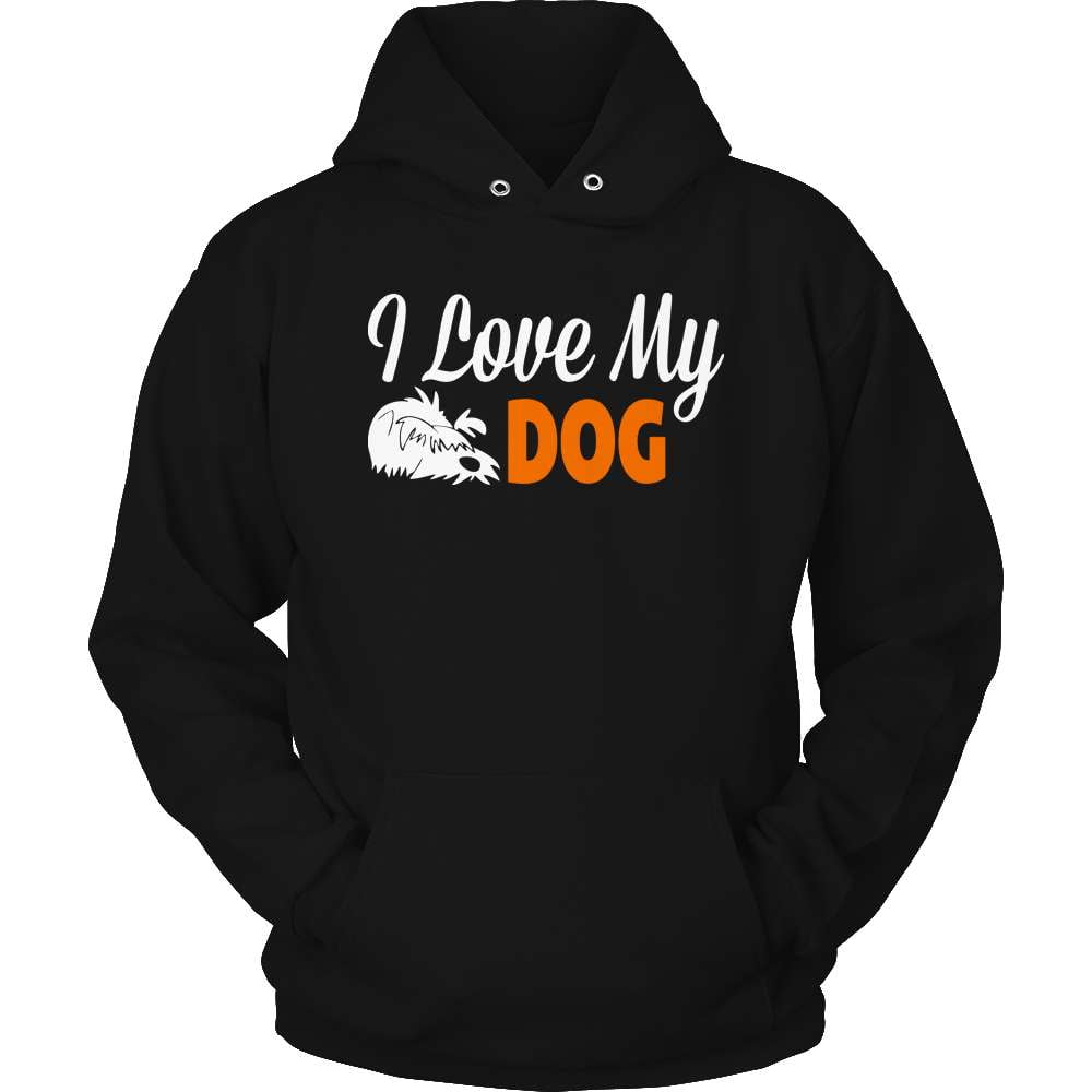 Dog T-Shirt Design - I Love My Dog - snazzyshirtz.com