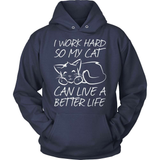 Cat T-Shirt Design - I Work Harder