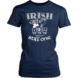 Irish T-Shirt Design - Irish Girls Prefer A Stiff One