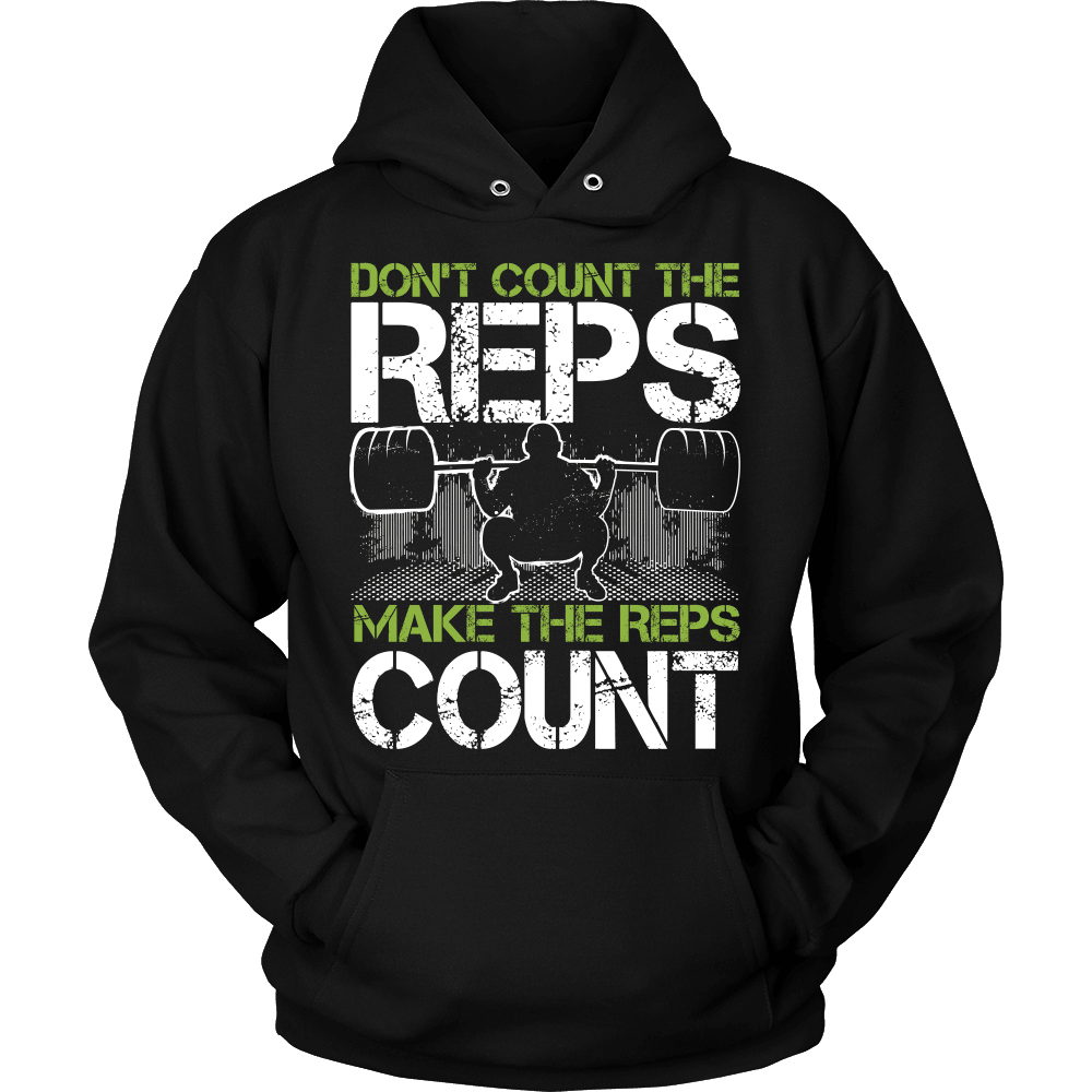 Fitness T-Shirt Design - Make The Reps Count!
