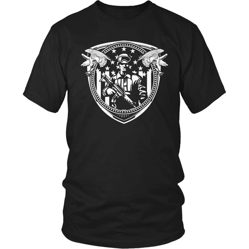 Veteran T-Shirt Design - Soldier Crest