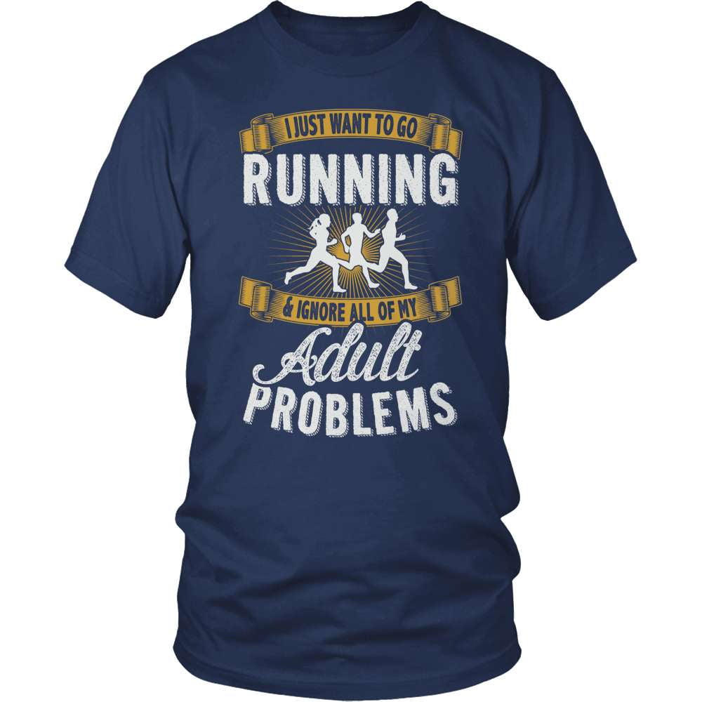 Fitness T-Shirt Design - I Want To Go Running