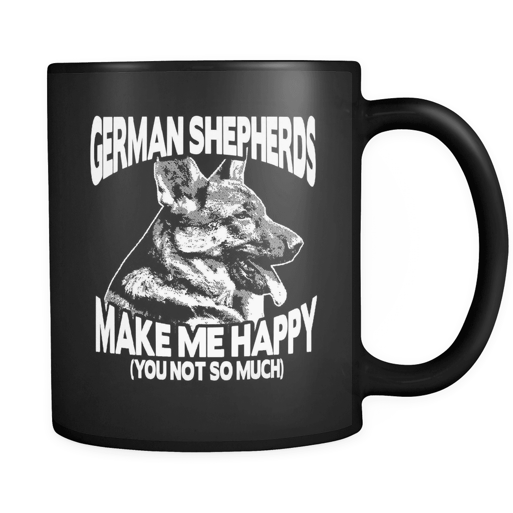 Sheps Make Me Happy - Luxury German Shepherd Mug