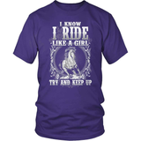 Horse T-Shirt Design - Ride Like A Girl