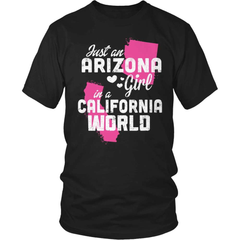 Arizona T-Shirt Design - Arizona Girl California World - snazzyshirtz.com