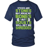 Fitness T-Shirt Design - Sticks And Stones