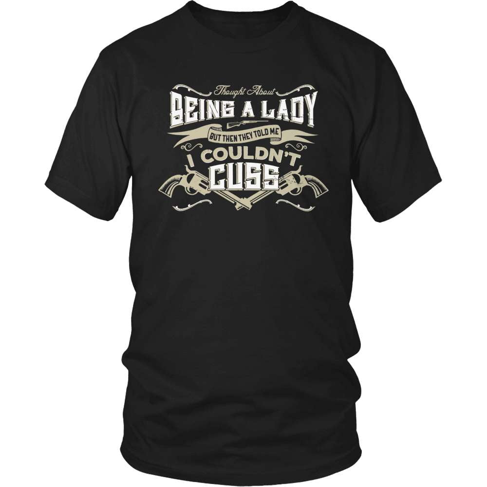 Country T-Shirt Design - Couldn't Cuss! - snazzyshirtz.com