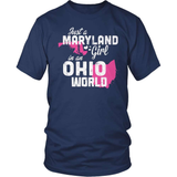 Maryland T-Shirt Design - Maryland Girl Ohio World