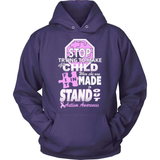Autism T-Shirt Design - My Child Stands Out (she)