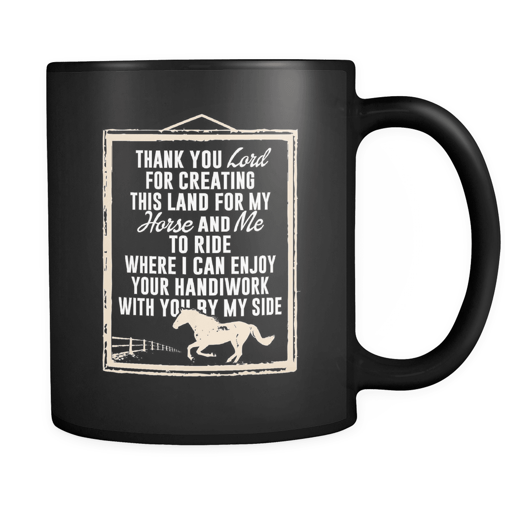 Thank You Lord - Luxury Horse Mug