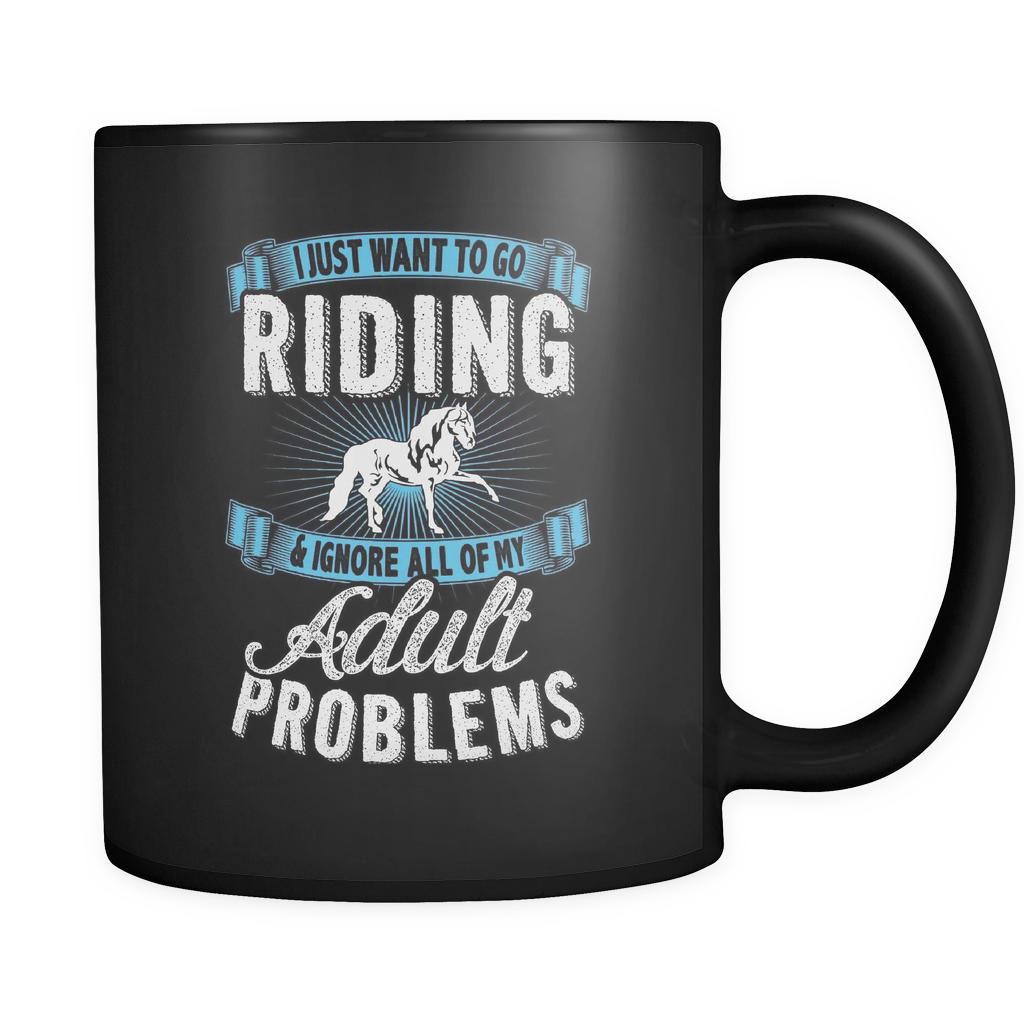 Just Want To Go Riding - Luxury Horse Mug
