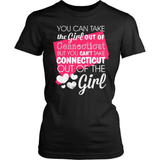 Connecticut T-Shirt Design - Girl Out Of Cunnecticut