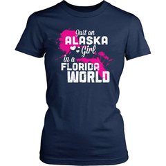 Alaska T-Shirt Design - Alaska Girl Florida World - snazzyshirtz.com