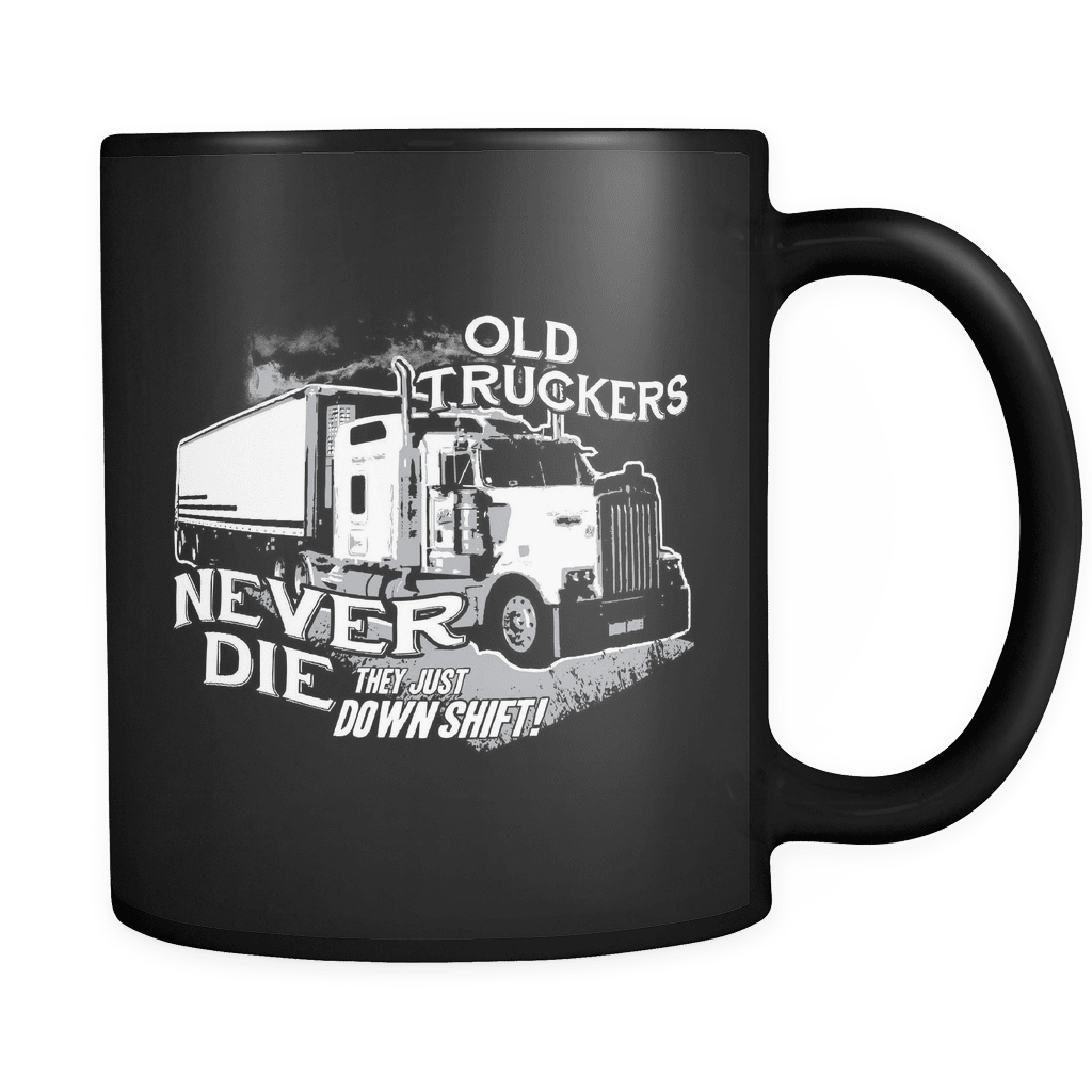 Old Truckers Never Die - Luxury Mug