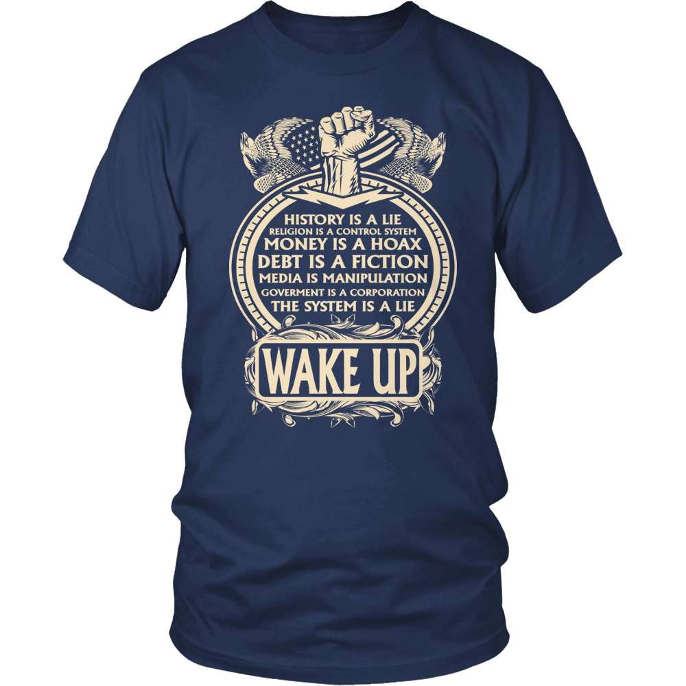 Truth Seeker T-Shirt Design - It's All A Lie Wake Up!