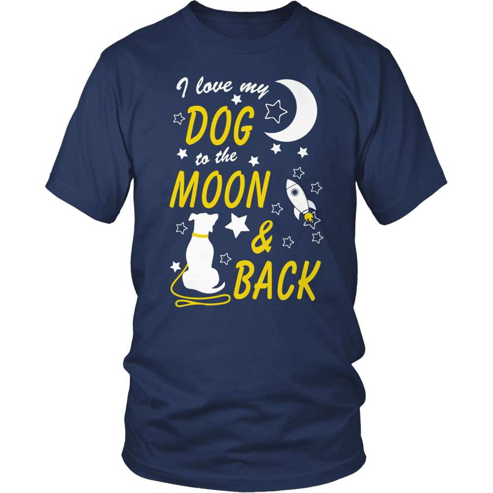 Dog T-Shirt Design - To The Moon And Back