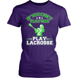Lacrosse T-Shirt Design - Can't Play Nice!