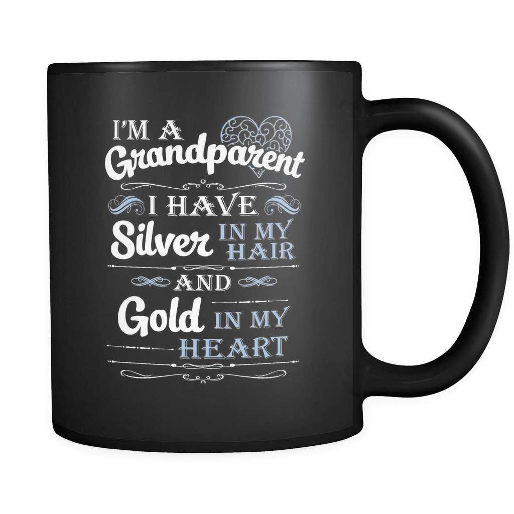 Silver In My Hair - Luxury Grandparent Mug - snazzyshirtz.com