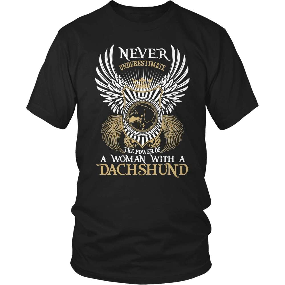 Dachshund T-Shirt Design - Never Underestimate