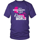 Mississippi T-Shirt Design - Mississippi Girl Florida World
