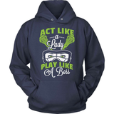 Lacrosse T-Shirt Design - Act Like A Lady