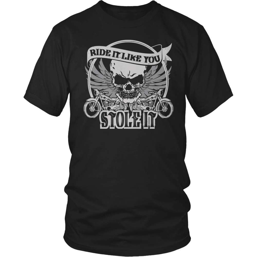 Biker T-Shirt Design - Ride It Like You Stole It!