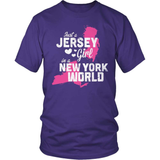 New Jersey T-Shirt Design - New Jersey Girl New York World