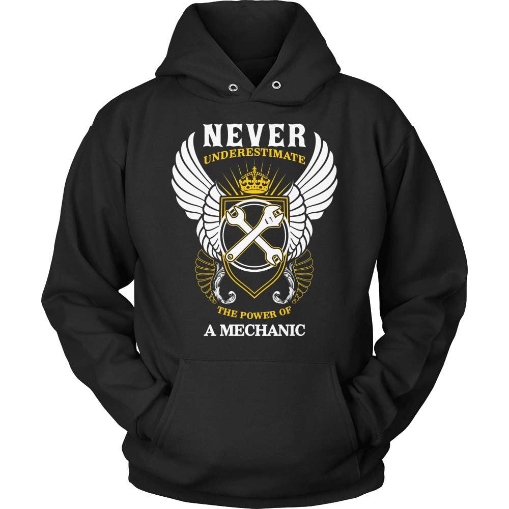 Mechanic T-Shirt Design - Never Underestimate - snazzyshirtz.com