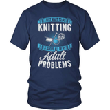 Knitting T-Shirt Design - I Just Want To Knit