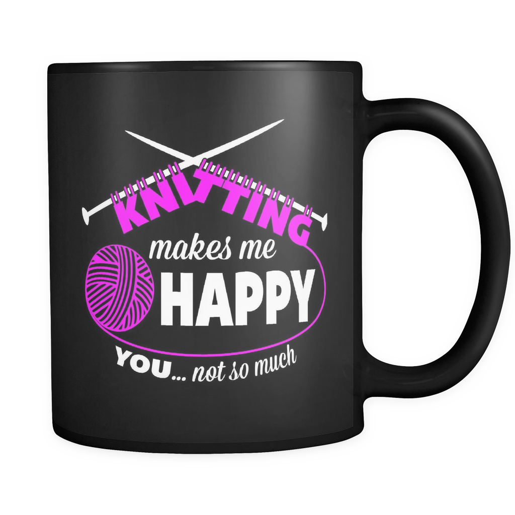 Makes Me Happy - Luxury Knitting Mug