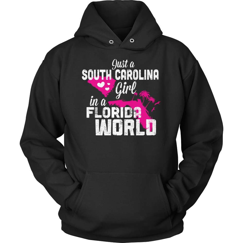 South Carolina T-Shirt Design - South Carolina Girl Florida World - snazzyshirtz.com