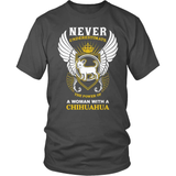 Chihuahua T-Shirt Design - A Woman With A Chihuahua!