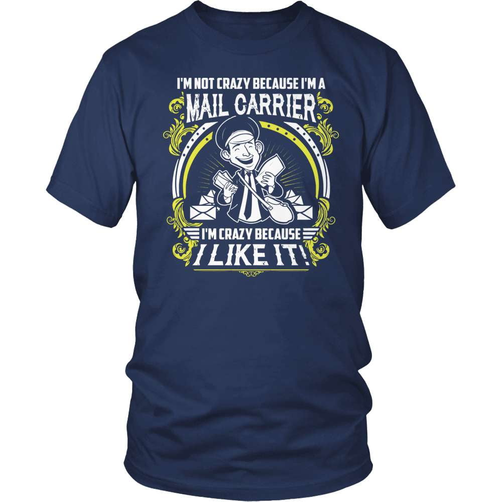 Mail Carrier T-Shirt Design - Crazy Mail Carrier