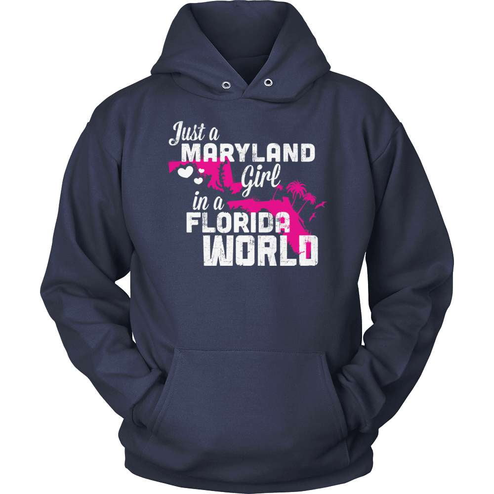 Maryland T-Shirt Design - Maryland Girl Florida World