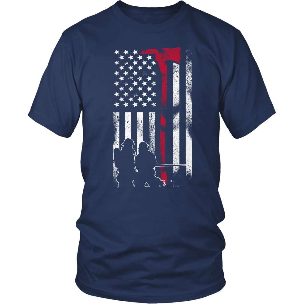 Firefighter T-Shirt Design - American Firefighter