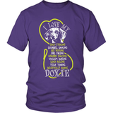Dachshund T-Shirt Design - Love My Doxie