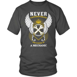Mechanic T-Shirt Design - Never Underestimate