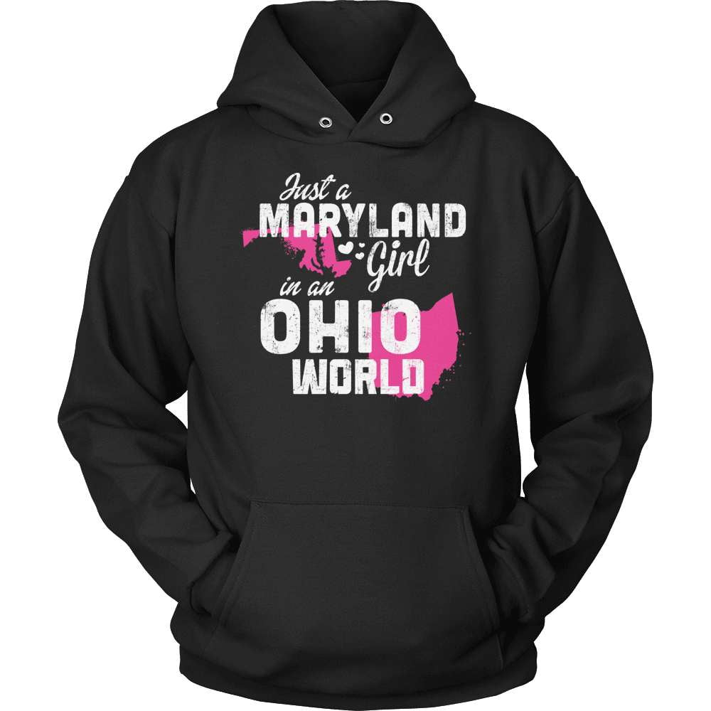 Maryland T-Shirt Design - Maryland Girl Ohio World - snazzyshirtz.com