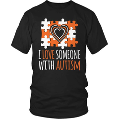 Autism T-Shirt Design - I Love Someone With Autism - snazzyshirtz.com