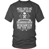 Grandparent T-Shirt Design - Don't Mess With My Grandkids