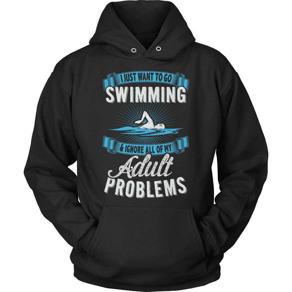 Swimming T-Shirt Design - Adult Problems - snazzyshirtz.com