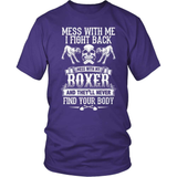 Boxer T-Shirt Design - Don't Mess With My Boxer