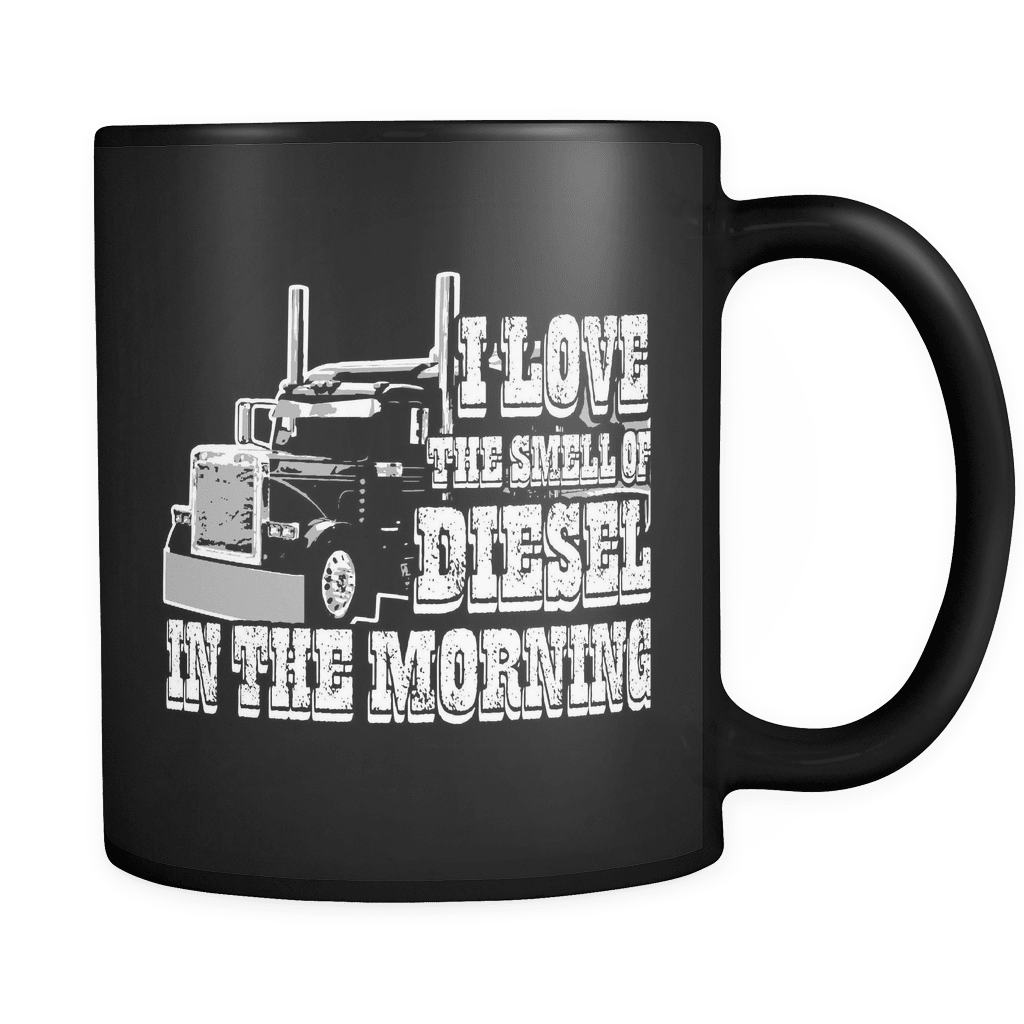 Diesel In The Morning - Luxury Trucker Mug