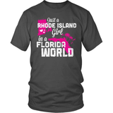 Rhode Island T-Shirt Design - Rhode Island Girl Florida World