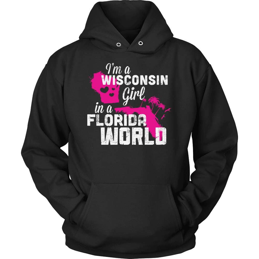Wisconsin T-Shirt Design - Wisconsin Girl Florida World