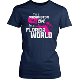 Washington T-Shirt Design - Washington Girl Florida World