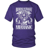 Mechanic T-Shirt Design - Blowing A Tranny