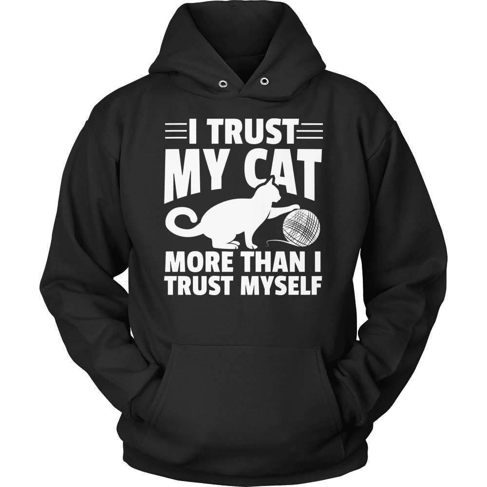 Cat T-Shirt Design - I Trust My Cat - snazzyshirtz.com