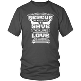 Dachshund T-Shirt Design - Rescue The Mistreated